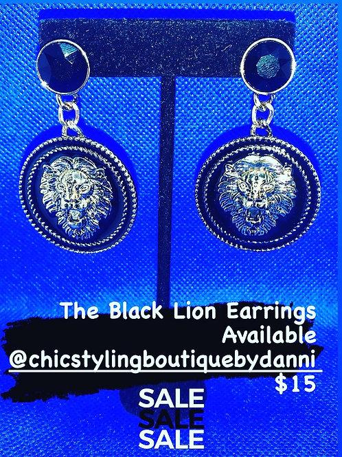 The Black Lion Earrings