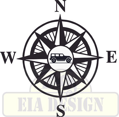 Compass No.3  Jeep Wrangler JK hood vinyl decal