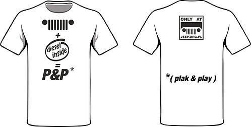 "t-shirt "" jeep diesel P&P ""v1 - black print"