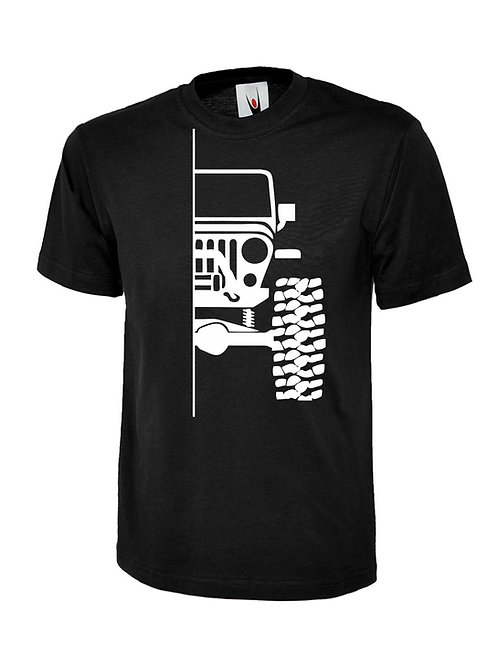 t-shirt off-road tj  v1 - white print