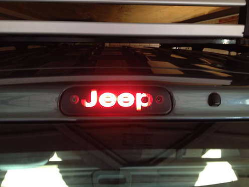 "jeep grand cherokee wj /wg brake light ""jeep"" sticker"
