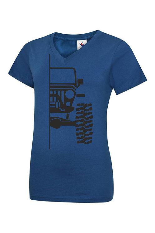 Ladies t-shirt off-road tj v1 - black print