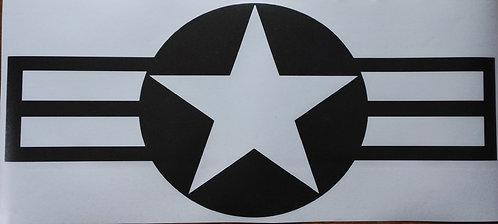 Jeep , us navy star sticker - 2 pieces set