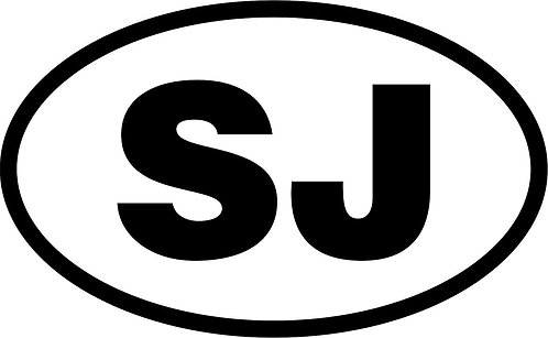 "jeep ""sj"" oval sticker  size:130mm x 80mm"