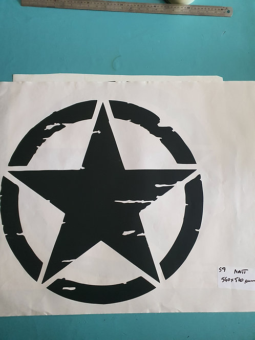 SALE Jeep US Army Military Distressed Star Sticker