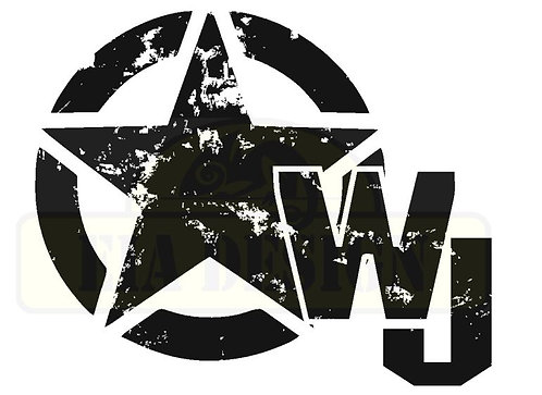 Jeep Star WJ Distressed hood vinyl decal