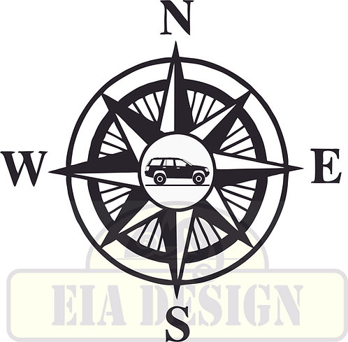 Compass No.4  Jeep Grand Cherokee WJ hood vinyl decal