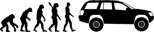 jeep wj evolution car sticker size: 300mm x 65mm