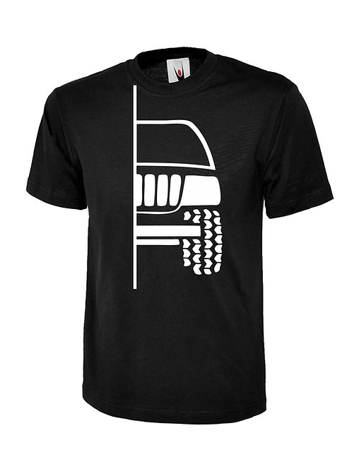 t-shirt off-road  WG/WJ  v1 - white print