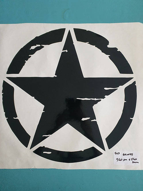 SALE Jeep US Army Military Distressed Star Sticker -3 pieces set -  option 1