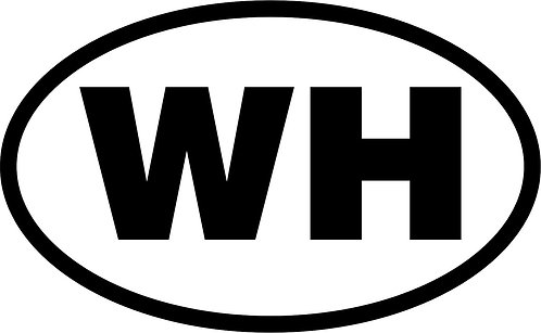"jeep ""wh"" oval sticker  size:130mm x 80mm"