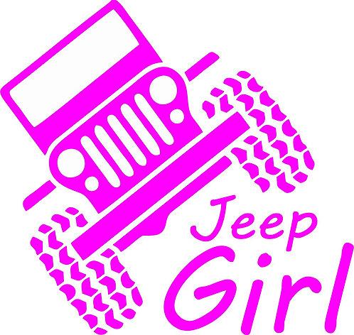 """Jeep """" jeep girl"""" car sticker 138mm x 130 mm"""