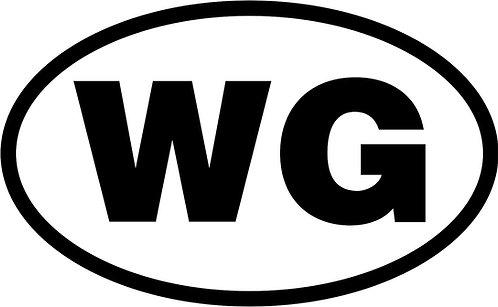 "jeep ""wg"" oval sticker  size:130mm x 80mm"