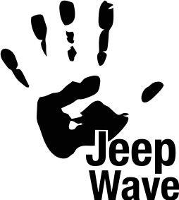 """Jeep """"jeep wave"""" car vinyl sticker 100mm x 95mm"""