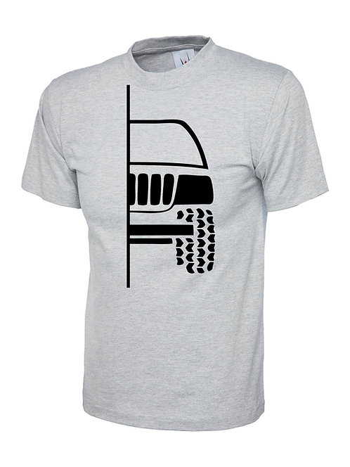 t-shirt off-road  WG/WJ  v1 - black print