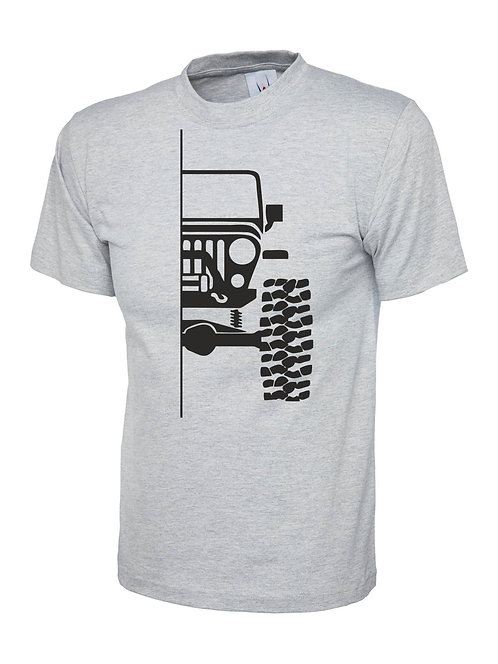 t-shirt off- road tj  v1 - black print