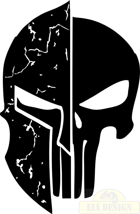 PUNISHER  skull Distressed No.4 hood side vinyl decal sticker for car