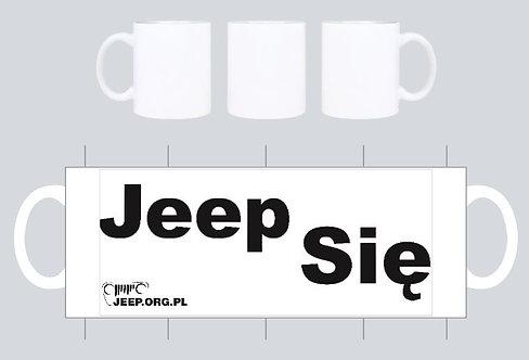 """kubek jeep.org.pl bialy wz  """"jeep sie"""""""
