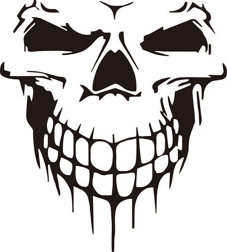 Jeep PUNISHER No.1 skull hood side vinyl decal sticker for car
