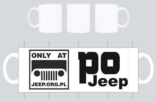 """kubek jeep.org.pl bialy wz """"po jeep"""""""