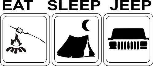 "Jeep , ""eat sleep jeep xj"" sticker"