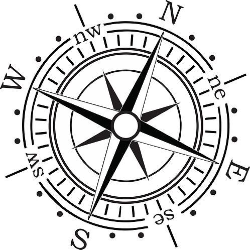 Compass No.1  hood vinyl decal