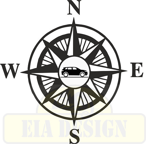 Compass No. 7  Land Rover Evoque  hood vinyl decal
