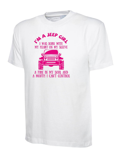 """t-shirt off- road jeep  """" jeep girl"""" v.1"""