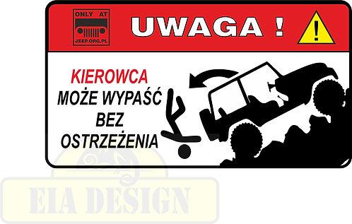 Jeep - zabawne naklejki ostrzegawcze nr10