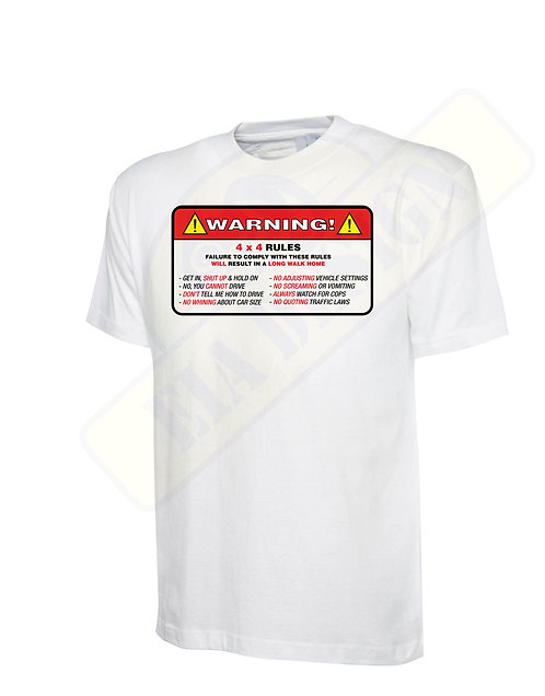 "t-shirt off- road"" 4 x 4 rules"""