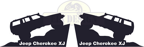 Jeep Cherokee XJ rear side window sticker set