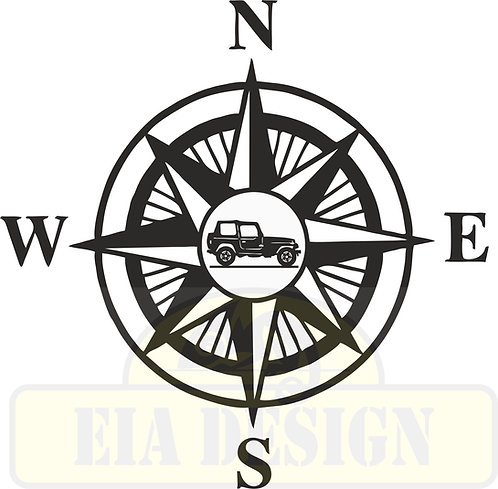 Compass No.5  Jeep Wrangler TJ hood vinyl decal