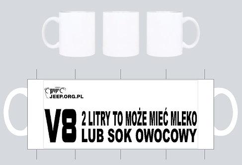 kubek jeep.org.pl bialy wz V8