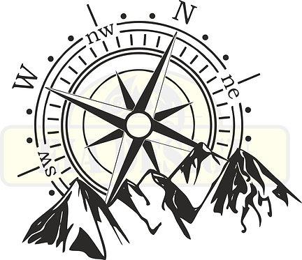 Compass No.2  hood vinyl decal