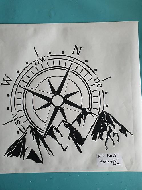 SALE Compass 2  hood vinyl decal