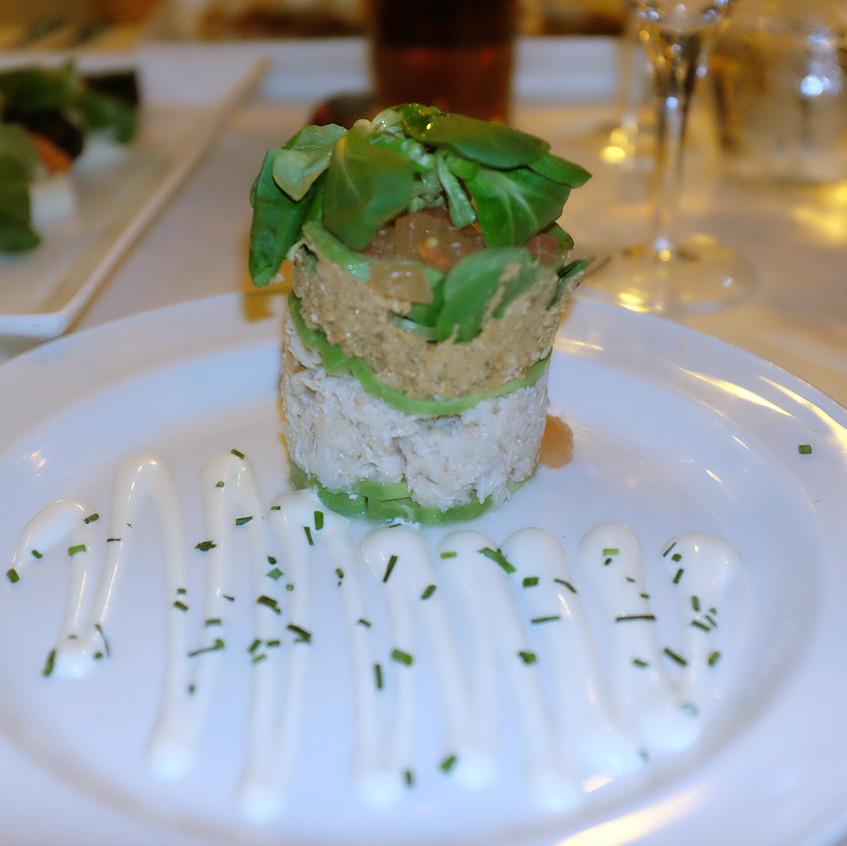 tartare frigate crab stack