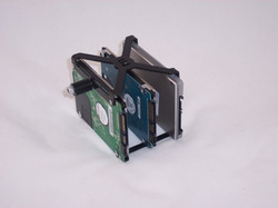 A super cool way to mount hard drives in a case,