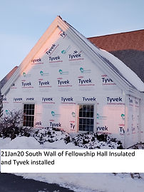 221Jan20 South Wall Fellowship Hall Insu
