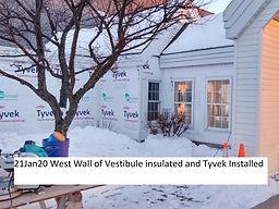 21Jan20 West Wall Vestibule Insulated an
