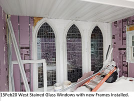 15Feb20 West Stained Glass Windows Frame