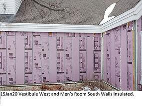 15Jan20 Vestibule West and Men's Room Wa