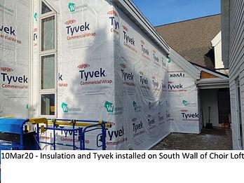 10Mar20 Insulation Tyvek South Wall Choi