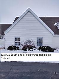 30Jan20 South End Fellowship Hall Siding