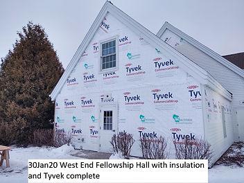 30Jan20 West End Fellowship Hall Insulat