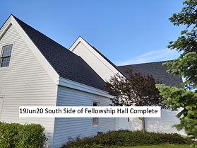 19Jun20 S Side Fellowship Hall Complete.