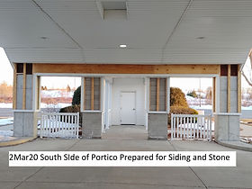 2Mar20 South Side Portico Ready for Sidi