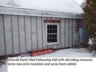 30Jan20 North Wall Fellowship Hall Bare.