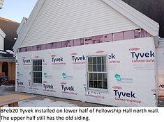 6Feb20 N Fellowship Hall Wall Partial Ty