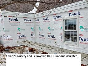 17Jan20 Nursery Fellowship Hall Bumpout