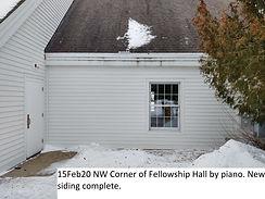 15Feb20 NW Corner Fellowship Hall New Si